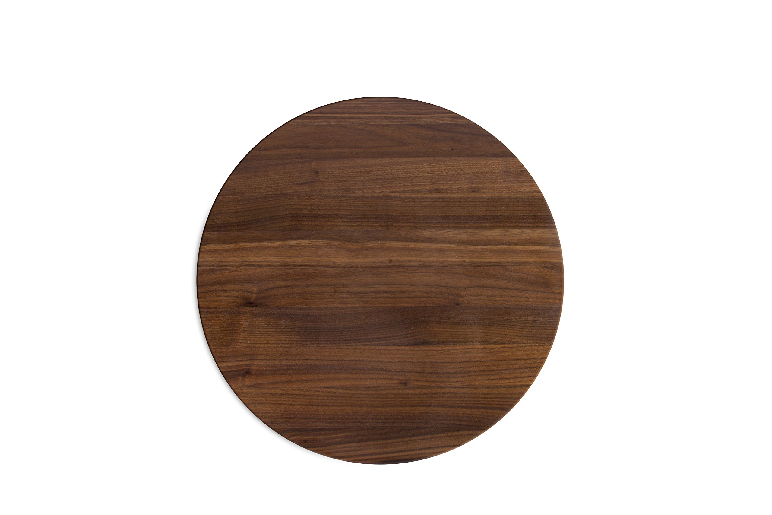 John Boos Block WAL-R18 Walnut Wood Edge Grain Reversible Round Cutting Board, 18 Inches Round x 1.5 Inches by John Boos (Image #1)
