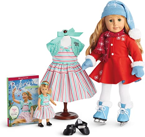 """American Girl 18/"""" Doll MARYELLEN Ice Skating Outfit Blue Skates ONLY"""
