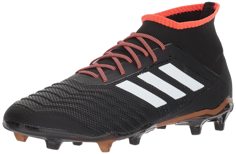 adidas Predator 18.2 FG Soccer Shoe B0714BBZLG 10 M US|Core Black/White/Solar Red