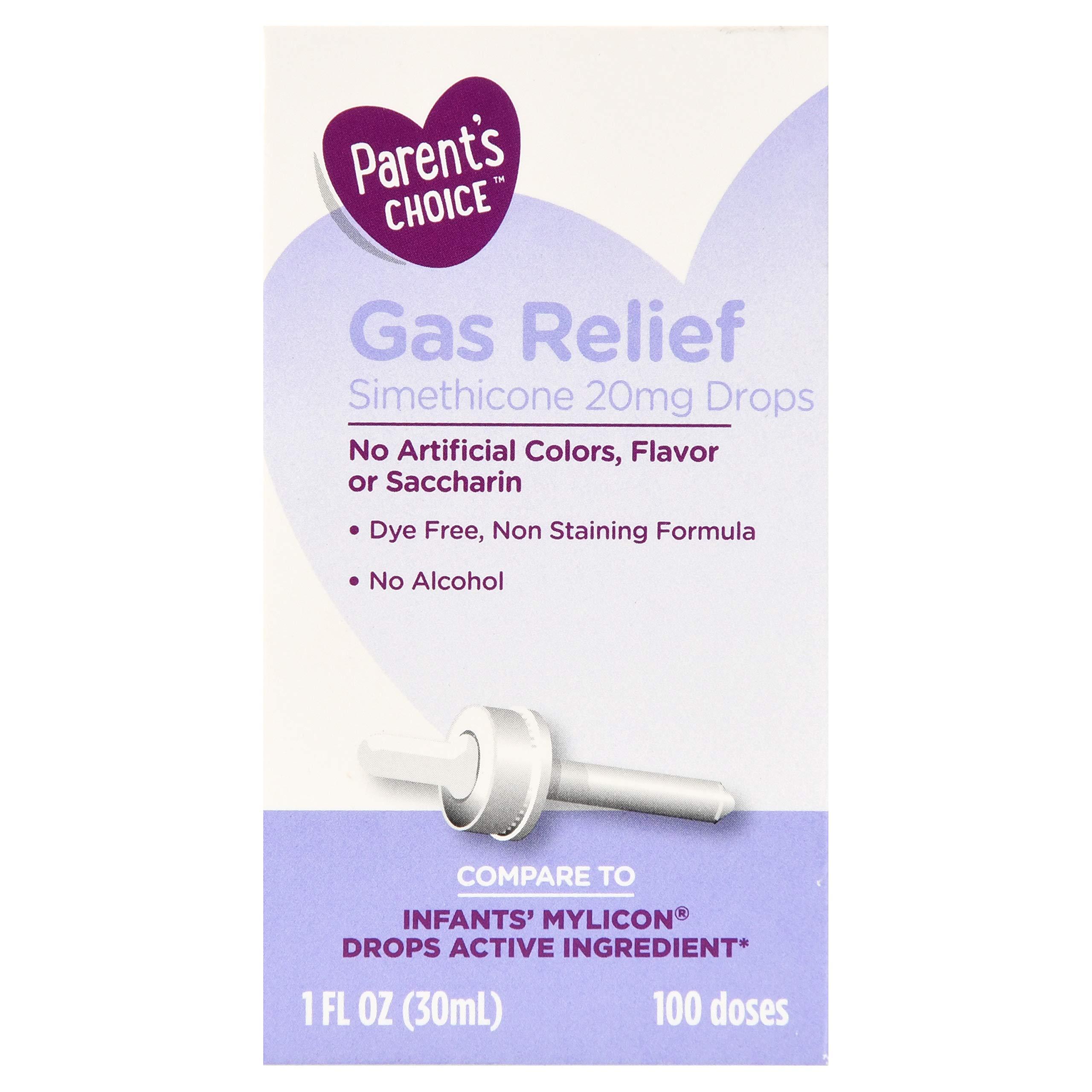 Parent's Choice Infants' Gas Relief Simethicone Drops, 20mg, 1 fl oz