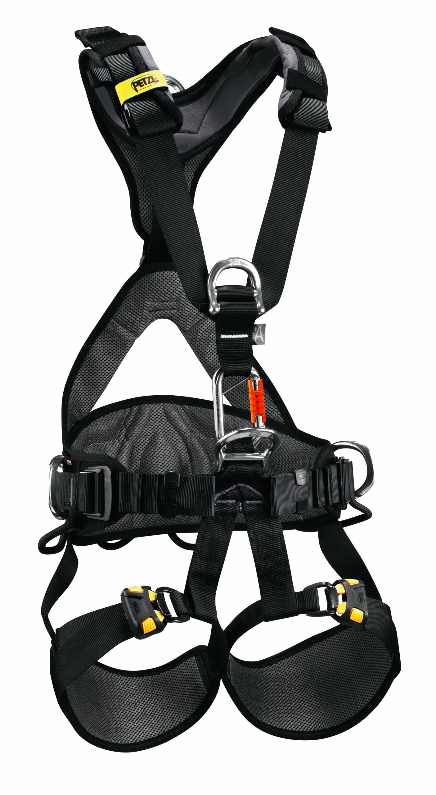 PETZL - AVAO BOD Fast International Version, Comfortable Harness for Fall Arrest, Size 1, Black/Yellow