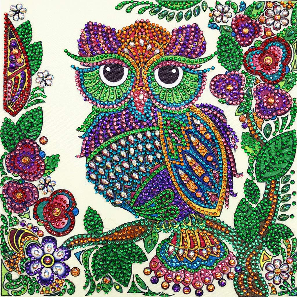 yangerous 2019 New Owl 5D Special Shaped Diamond Painting Embroidery Needlework Rhinestone Crystal Cross Craft Stitch Kit DIY