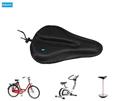 Soft Gel Bicycle Seat Cushion Bike Saddle Cushion with Waterproof Dust Cover US