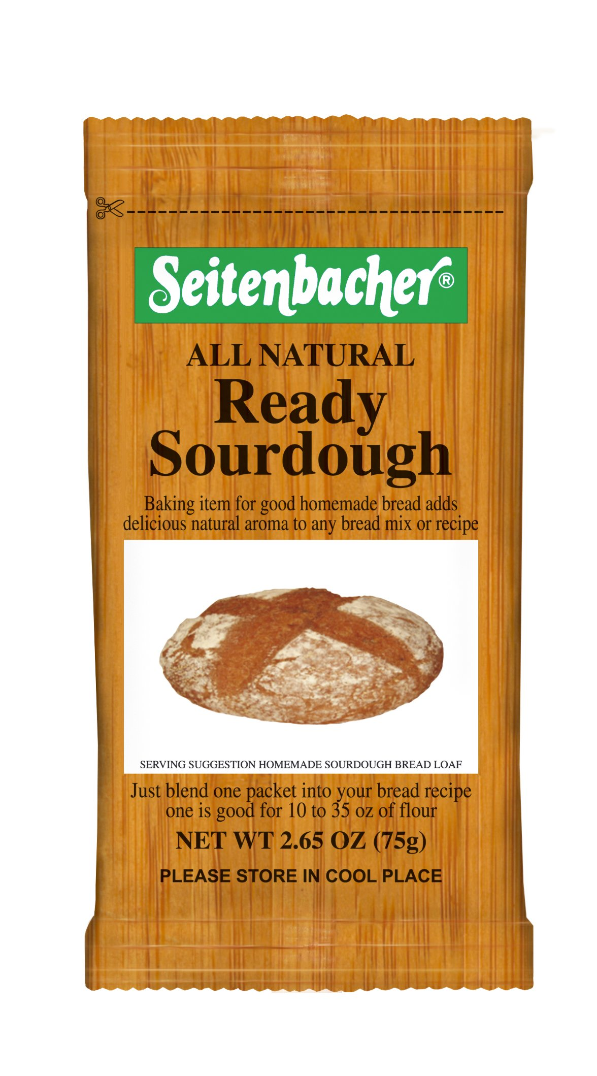 Seitenbacher Natural Ready Sourdough, 2.65-Ounce Bags (Pack of 10) by Seitenbacher