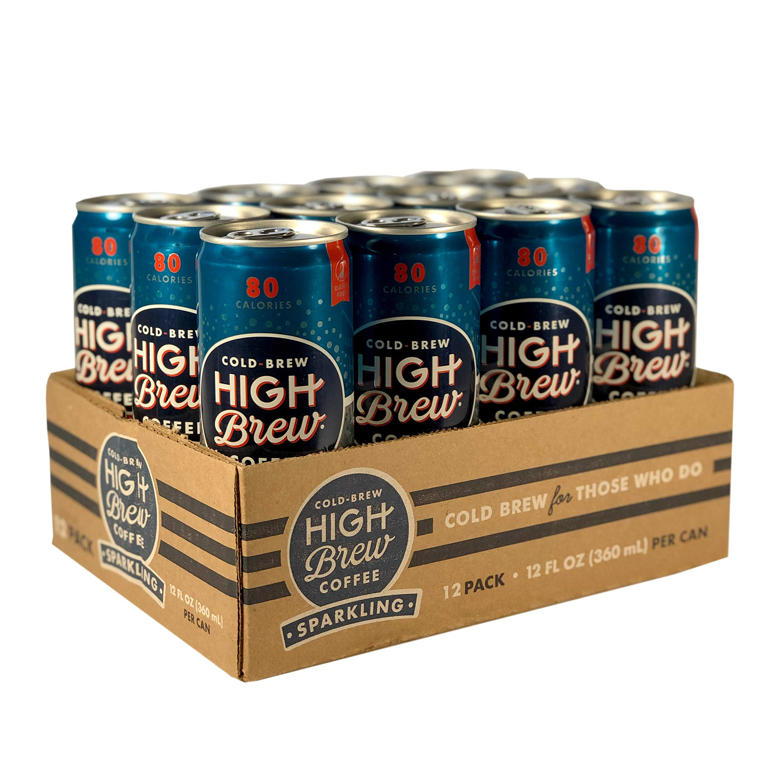 High Brew Sparkling Cold Brew Coffee Vintage Vanilla, 12 Ounce Can (12 Count)