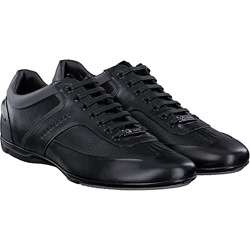 f8677b3b3 BOSS Hugo Mercedes AMG Formula 1 F1 Black Leather Driving Trainers Sporty  Lowp MBPR 5 UK