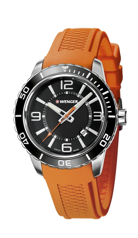 WEGNER Unisex-Armbanduhr 01.0851.114 WENGER ROADSTER Analog Quarz Silikon 01.0851.114 WENGER ROADSTER