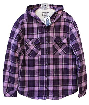 b9411f871da7 Image Unavailable. Image not available for. Color  Boston Traders Ladies  Sherpa Lined Hooded Flannel ...