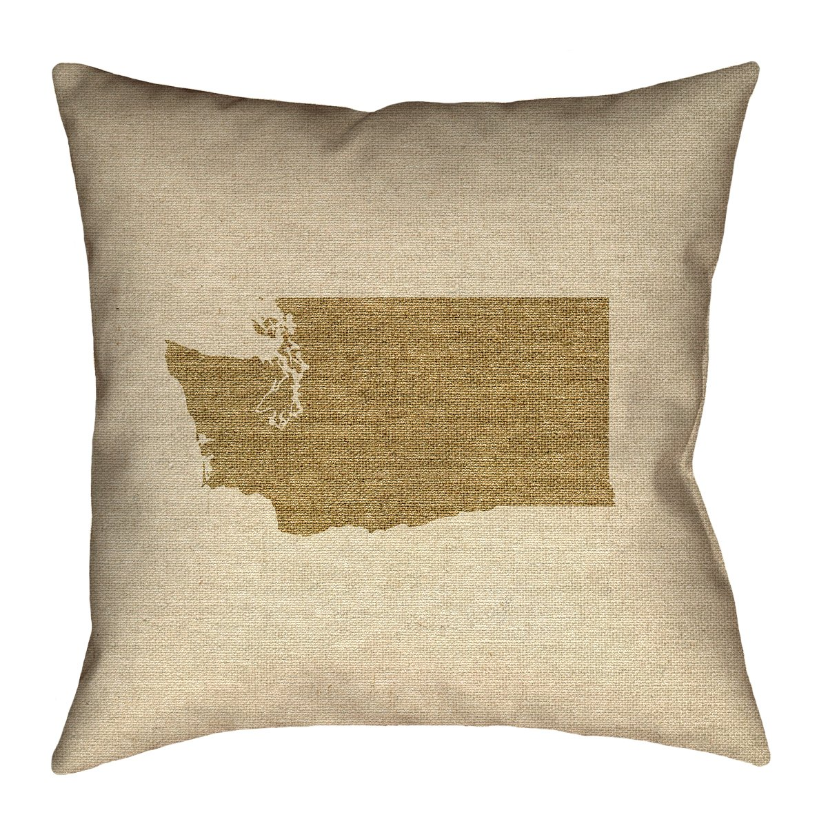 Double Sided Print with Concealed Zipper /& Insert Updated Fabric ArtVerse Katelyn Smith Washington Canvas 14 x 14 Pillow-Faux Linen