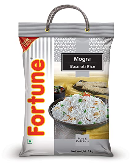 Fortune Mogra Basmati Rice, 5 kg (Broken Rice)