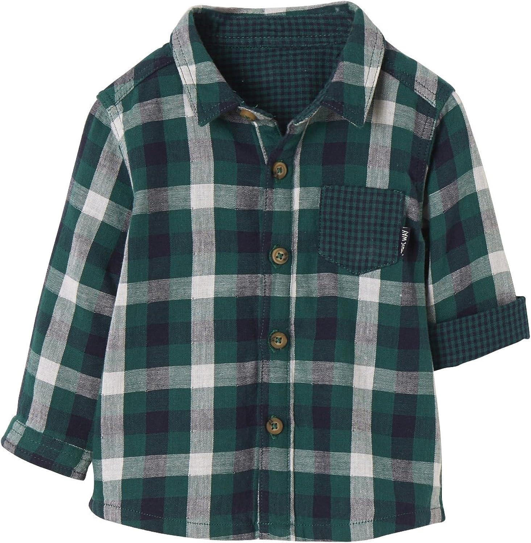 VERTBAUDET Camisa a Cuadros para bebé Verde Oscuro a Cuadros ...
