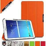 BeePole Custodia Protettiva Tri-Folder per Samsung Galaxy Tab E 9.6 (SM-T560/T561/T565/T567V), con Supporto, Arancio