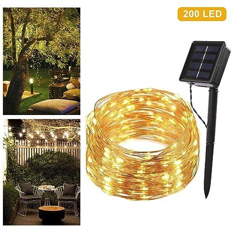 B-right Guirnalda Luces Solar Exterior 22m 200 LED, Luces Solar Exterior Impermeable,. Pasa ...