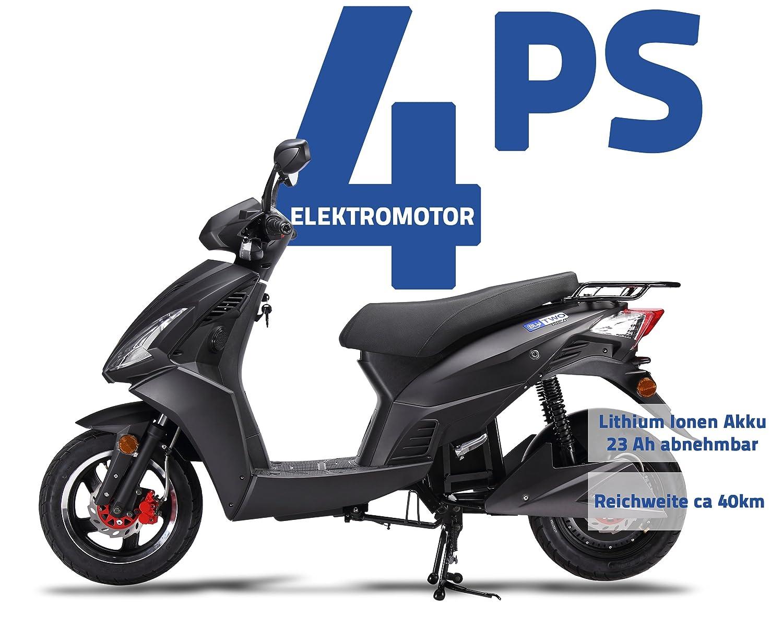 Motocicleta eléctrica Blu Two 3000 Li, con batería de ion ...