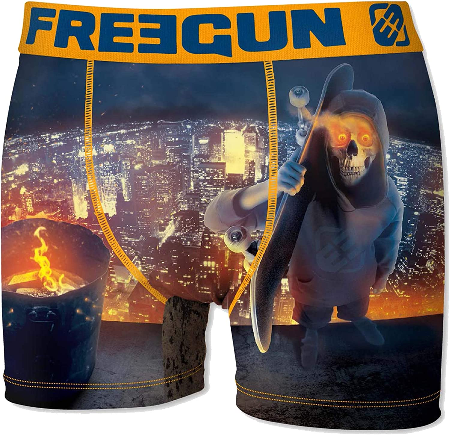FREEGUN Boxer Fgp61 Freestyle Activity for Mens in Microfiber Assortment Models Photos According to Arrivals