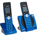 VTech CS6919-25 Dect 6.0 2 Handset Landline Telephone, Metallic Blue