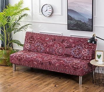 5fceee19ce1000 Cornasee Housse de canapé Clic Clac 3 Places,Extensible Housse de canapé  sans accoudoir Salon