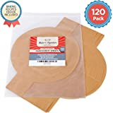 """Parchment Paper Sheets 9"""" Cake Pan 120 Pack Unbleached Natural Brown"""