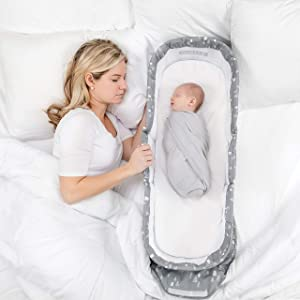 Baby Delight Snuggle Nest Dream Portable Infant Sleeper | Sleepy Trees | Baby Bed - New!!