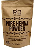 MB Herbals Henna Powder 227 Gram| Half Pound | For Natural Hair Color | Triple Sifted | Raw | Non-Radiated |100% Natural - Nothing Added or Removed