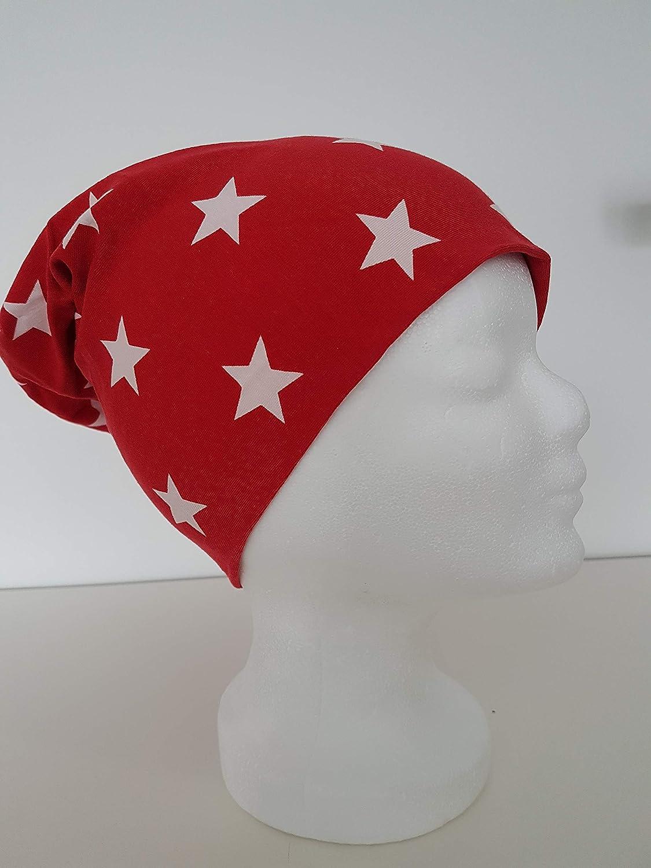 Mütze  Jerseymütze  Beanie  Sterne   Handmade