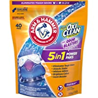 Arm & Hammer Plus OxiClean With Odor Blasters UNIT DOSE LAUNDRY DETERGENT 5-IN-1 Power Paks, 40CT (Packaging may vary)