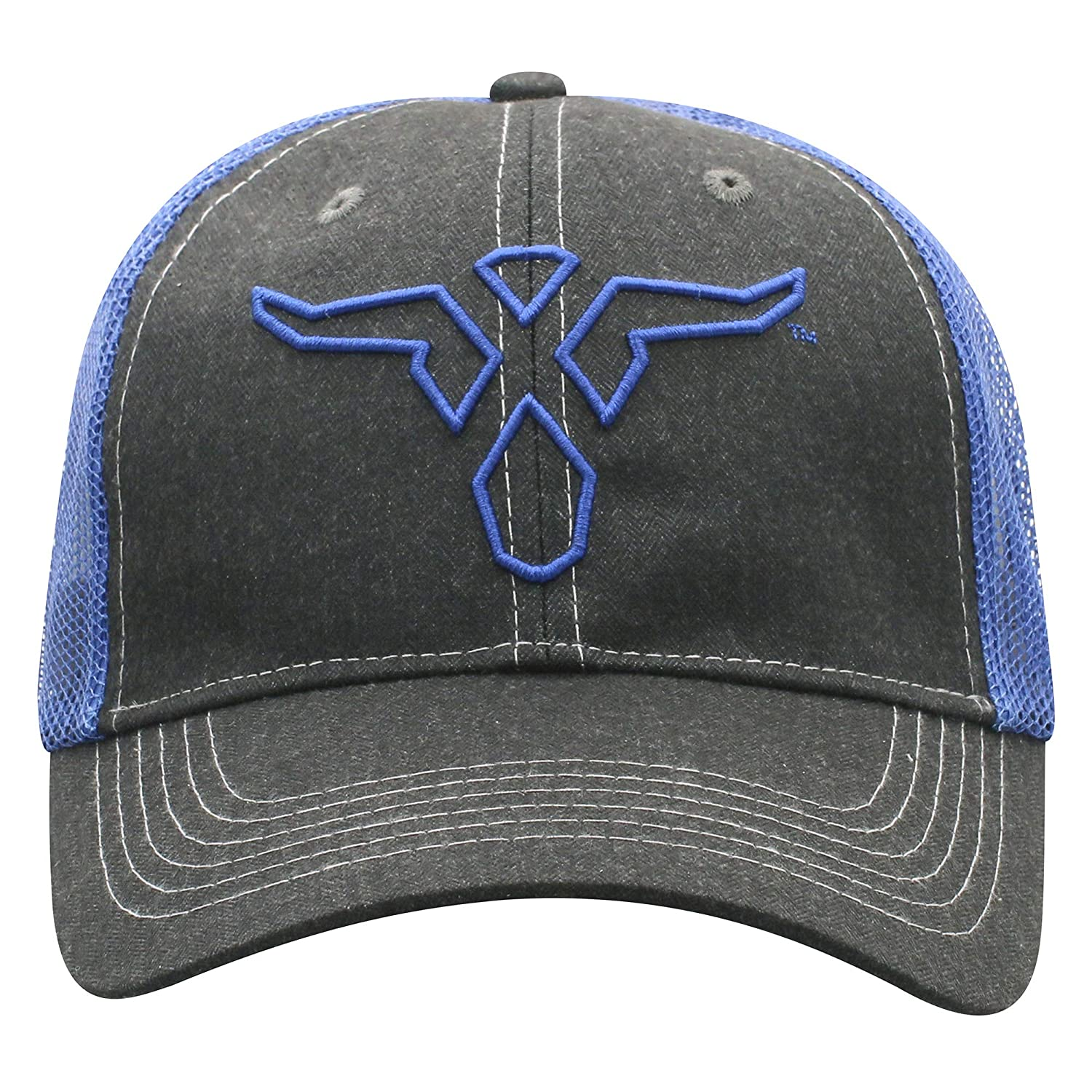 e43f059c5 Wrangler Men's True Blue Bull Mesh Back Trucker Cap at Amazon Men's ...
