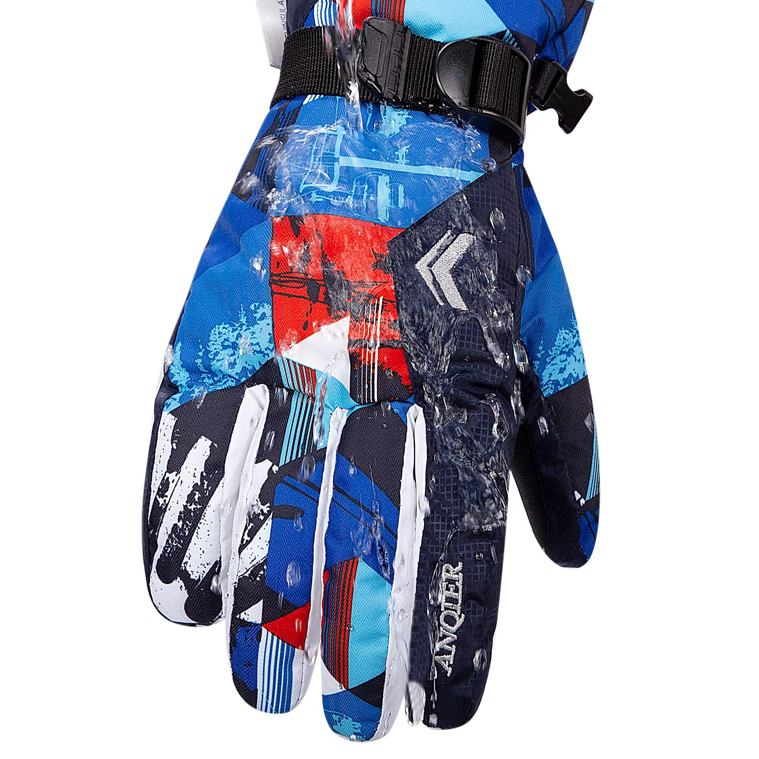 FengNiao Kids Ski Gloves Winter Thermal Windproof Waterproof Gloves Toddler Gloves Children Cycling Snowboard Running Gloves for Boys Girls