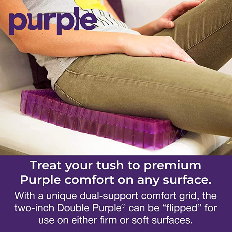 Purple Double Seat Cushion - Seat Cushion for The Car Or Office Chair