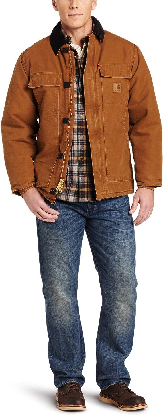 Mens Carhartt Mens Big /& Tall Arctic-Quilt Lined Sandstone Duck Traditional Coat C26 Carhartt Sportswear