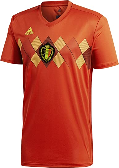 Caña cansada reparar  Amazon.com: adidas Belgium Home Soccer Jersey World Cup 2018: Clothing