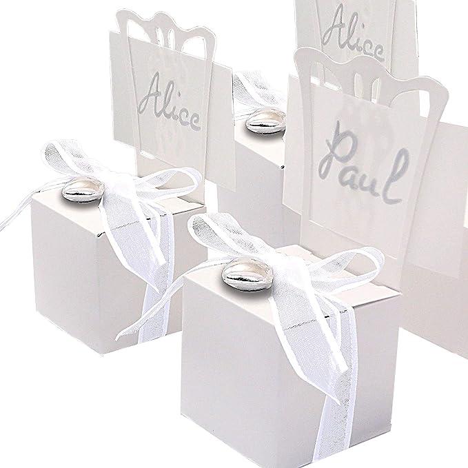 EinsSein 48 Stück Kartonagen Gastgeschenke Hochzeit ...