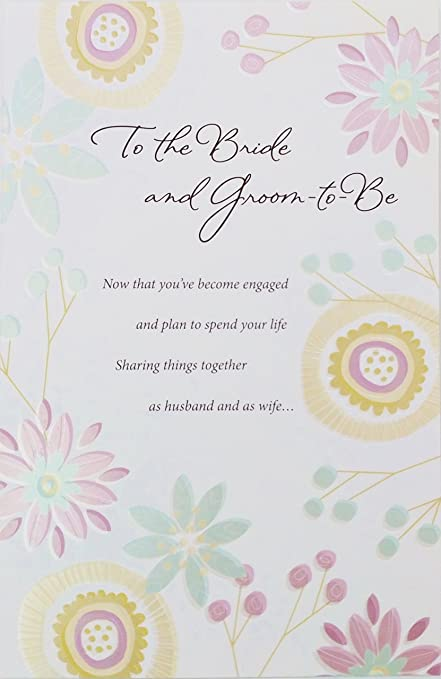 Amazon to the bride and groom to be congratulations on your to the bride and groom to be congratulations on your engagement greeting card m4hsunfo
