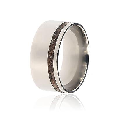 Dinosaur Bone Wedding Ring Handcrafted With Dinosaur Bone Wedding Band    USA Comfort Fit