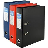 Bantex, A4 Lever Arch Files, Assorted, Plastic, 3 Folders