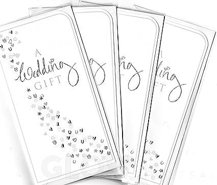 Paquete de 4 carteras de regalo para dinero, regalo de boda ...
