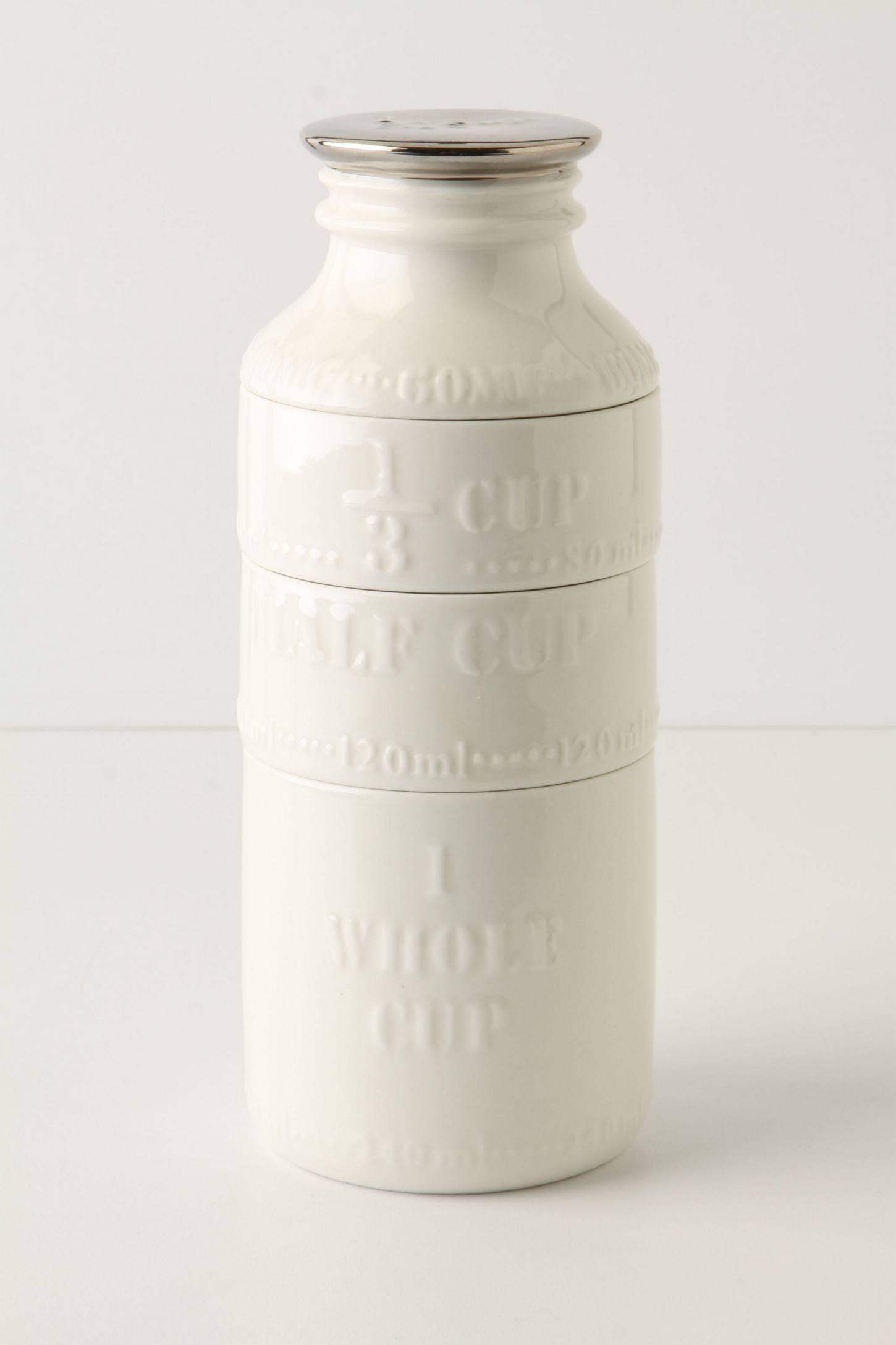 Milk Bottle Measuring Cups | Anthropologie