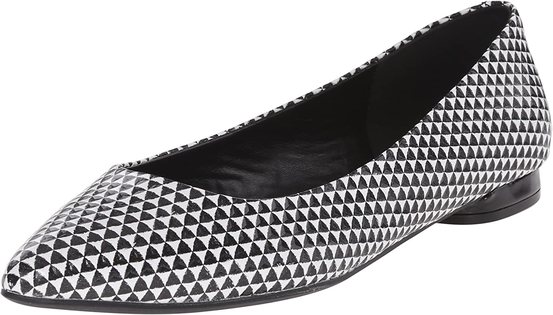 Nine West Womens Onlee Leather Ballet Flat