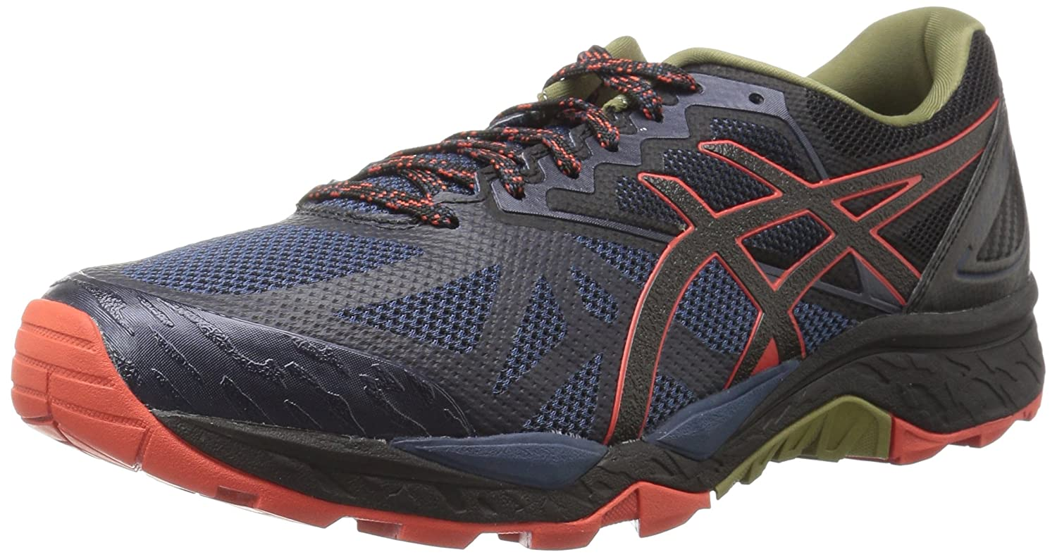 Insignia bleu noir rouge Clay 39 EU ASICS - Chaussures Gel-Fujitrabuco 6 pour Homme