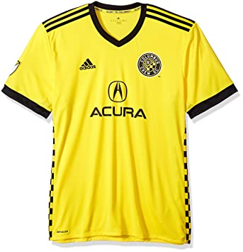 Amazon.com   adidas Columbus Crew Jersey Replica Home Soccer Jersey ... 685a8f255