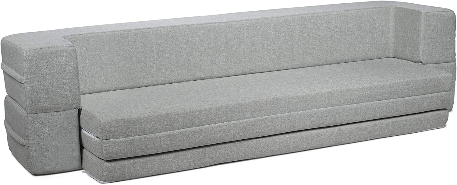 Milliard Daybed Sofa Couch Bed Queen to Twin Folding Mattress Queen-Twin Fold Out