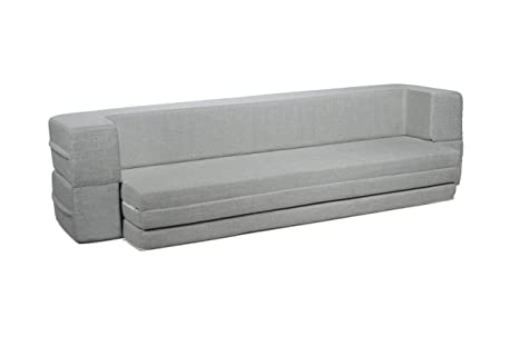 Milliard Daybed Sofa Couch Queen to Twin Folding Mattress (Twin)