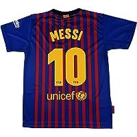 656fb9fe90ee3 Barcelona Camiseta Réplica Infantil Primera Equipación 2018 2019 - Dorsal  Messi 10 -