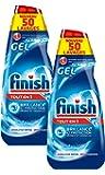 Finish Gel Tout en 1 pour Lave-Vaisselle 1000 ml - Lot de 2