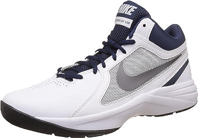 Hoch Gut Männer Nike Overplay Viii Basketball Schuhe Weiß