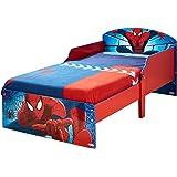 Worlds Apart (WAP) Spiderman Lettino con Testata e Doghe, Legno, Multicolore, 59x77x142 cm