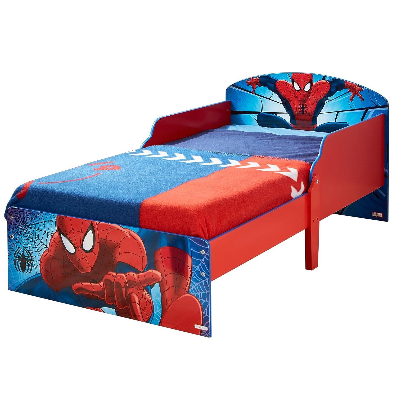 Marvel Spider-Man Kids Toddler Bed Frame Childs Furniture ...