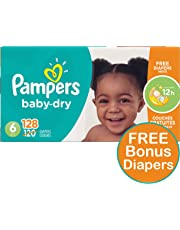 Pampers Diapers Size 6, Baby Dry Disposable Baby Diapers, 128 Count PLUS LIMITED TIME BONUS DIAPERS