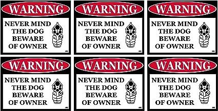 Beware Decal Sticker Barking Dog Loaded Gun Security