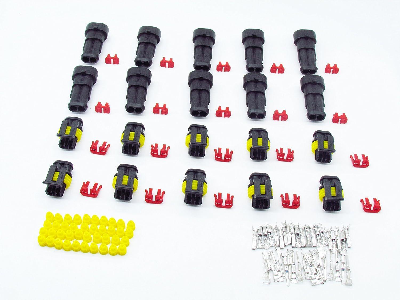 Cnkf 10 AMP Superseal 1.5 serie 2 pin maschio e femmina connettore 282080 –  1/282104 –  1 kaifa elec